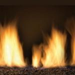 The Newcomb porcelain panels black fire glass fire box