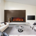 Living Room with electric fireplace