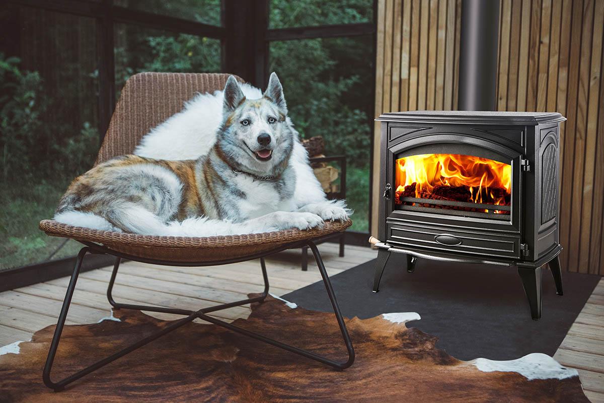 Sierra Flame Lynwood W76 wood fireplace