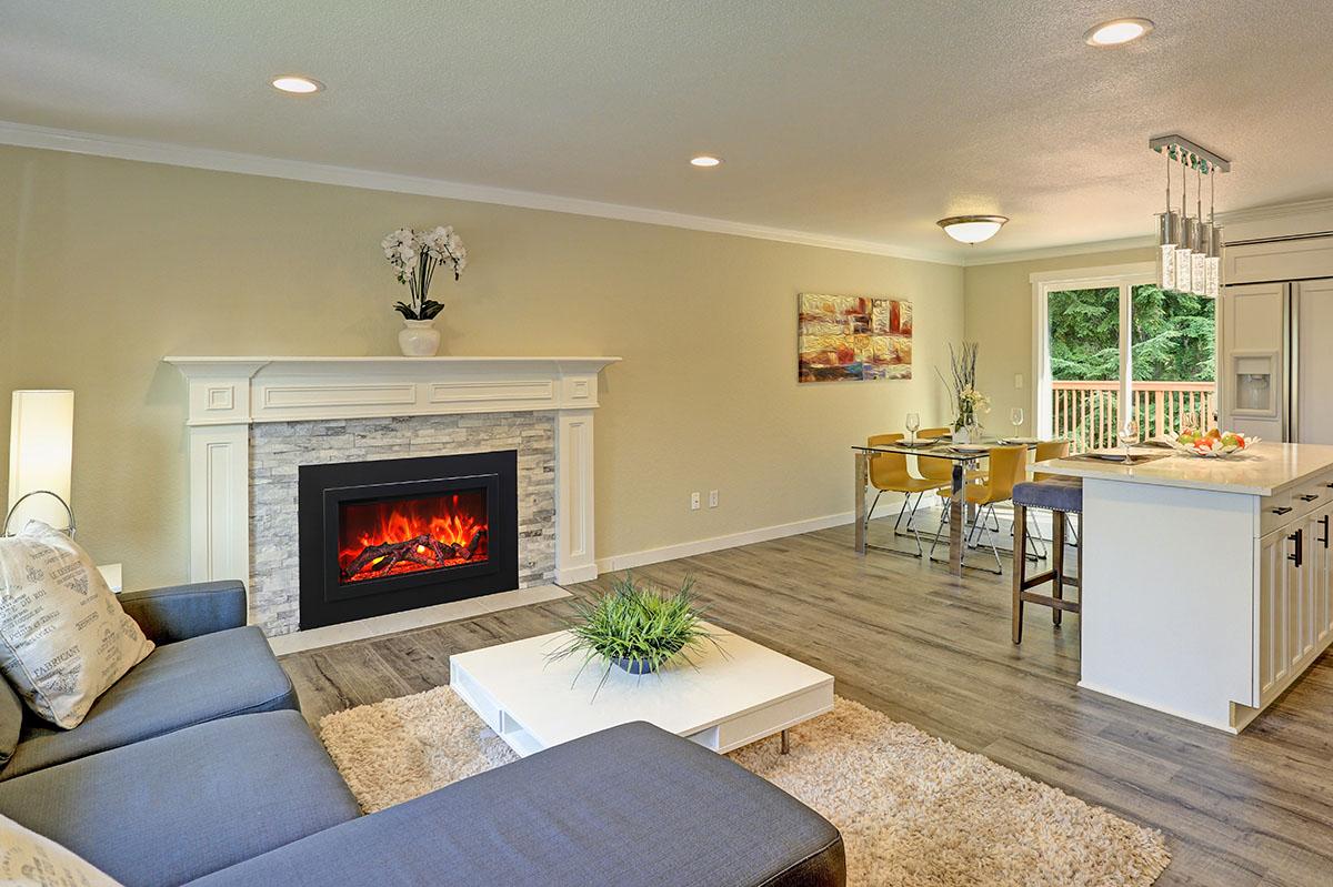 Beautiful open plan second floor living room