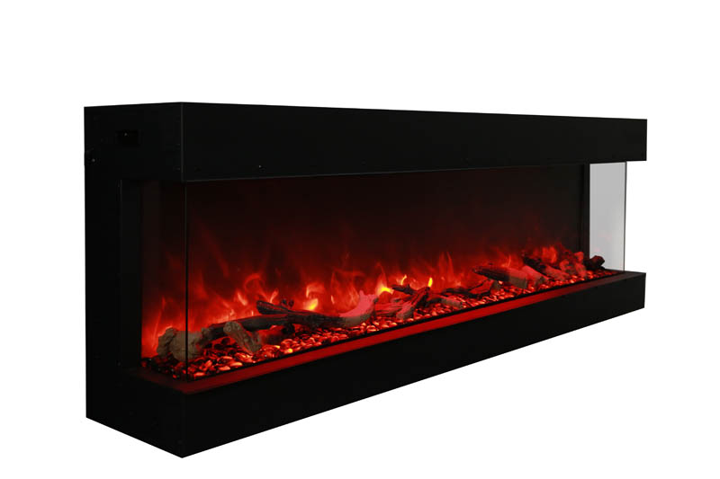50 tru view xl 3 sided electric fireplace amantii for Open sided fireplace