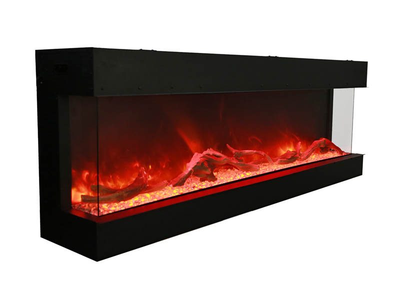 72 Tru View Xl 3 Sided Electric Fireplace Amantii