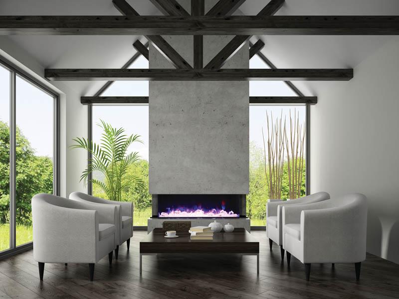 72 Tru View Xl 3 Sided Electric Fireplace Amantii