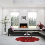 TRU-VIEW SLIM Electric Fireplace with glass chunks