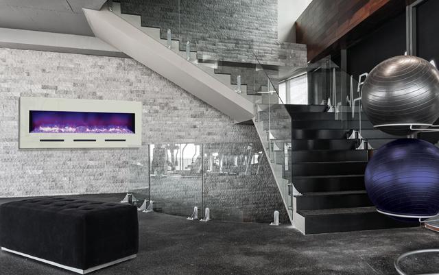 modern, stylish electric fireplaces