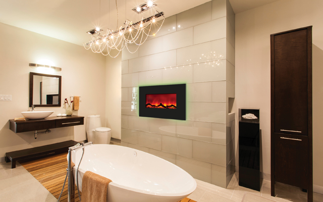 Electric Fireplace - backlit