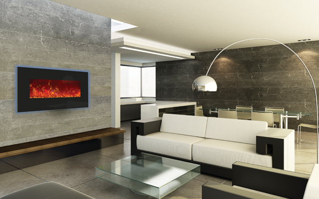 Electric Fireplaces - 35 inch wide - backlight