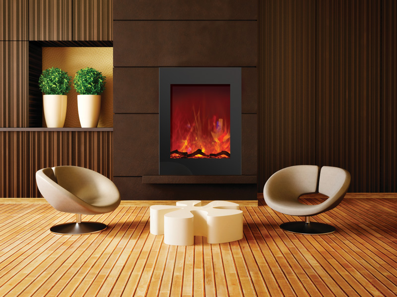 Electric Fireplaces - concrete surrounds