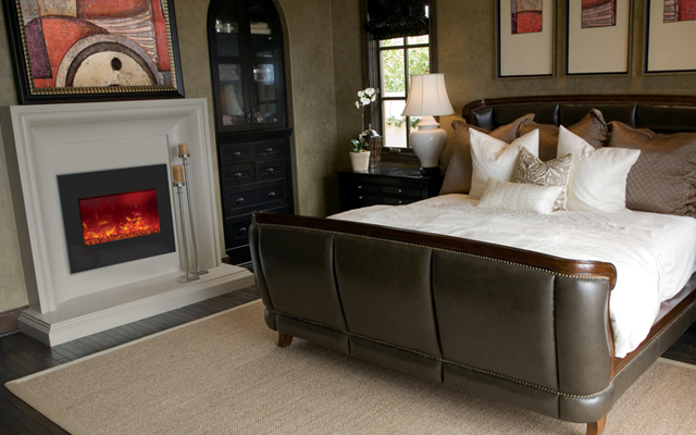 Electric Fireplaces - concrete surrounds