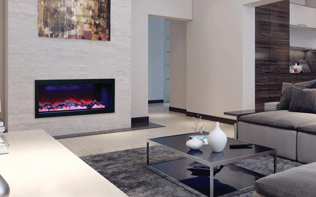 "50"" indoor or outdoor electric fireplace by Amantii"