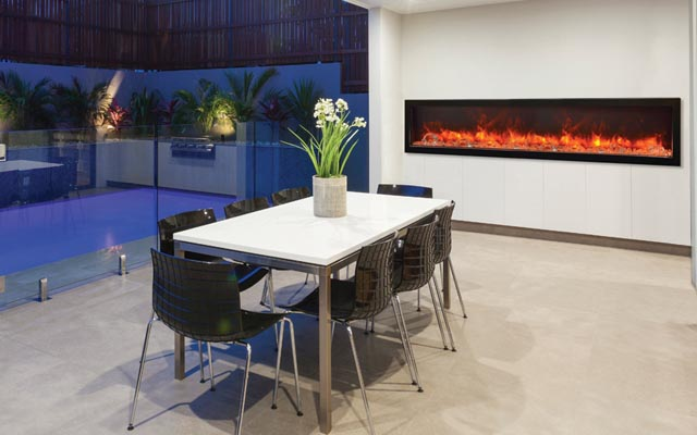 Amantii indoor or outdoor electric fireplace - BI-88-DEEP €� 88″ Deep Indoor Or Outdoor Electric Fireplace - 2016