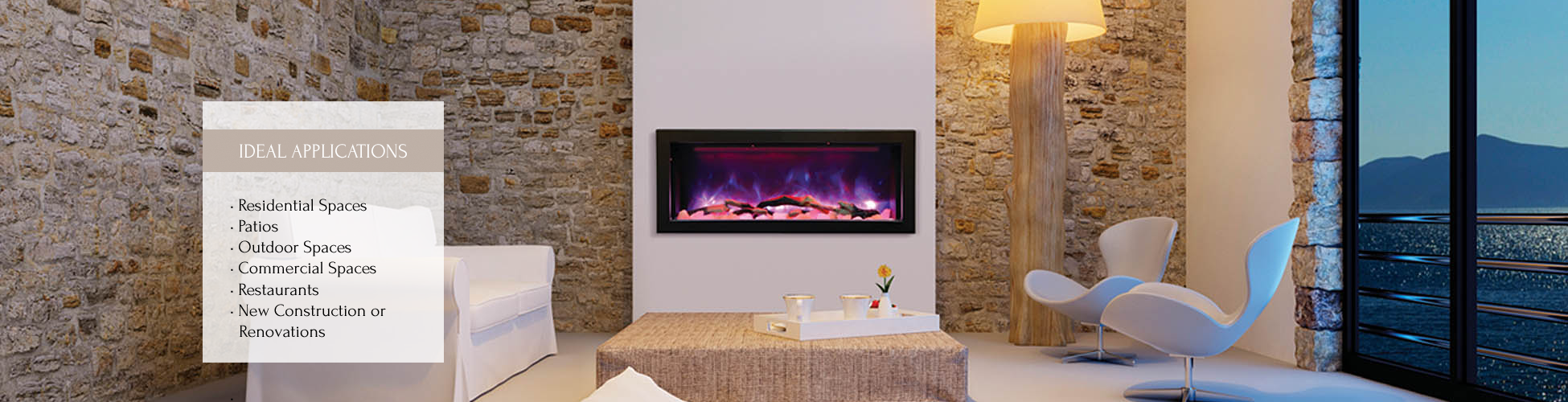 Panorama BI-40 electric fireplace