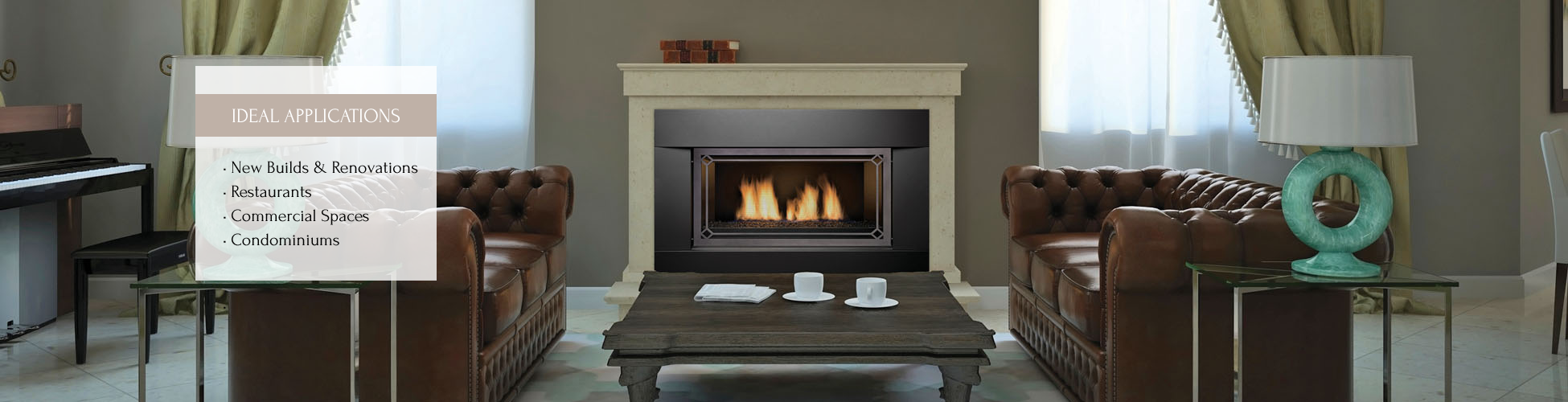 Newcomb gas fireplace by Sierra Flame