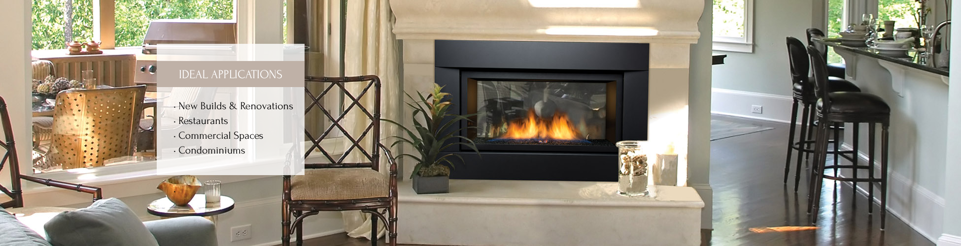 Palisade gas fireplace by Sierra Flame