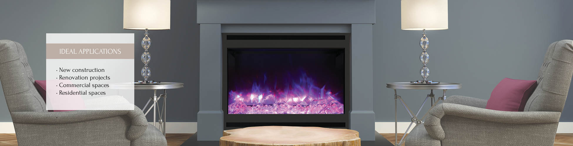 ZECL-31-3228-STL-SQR electric fireplace by Amantii