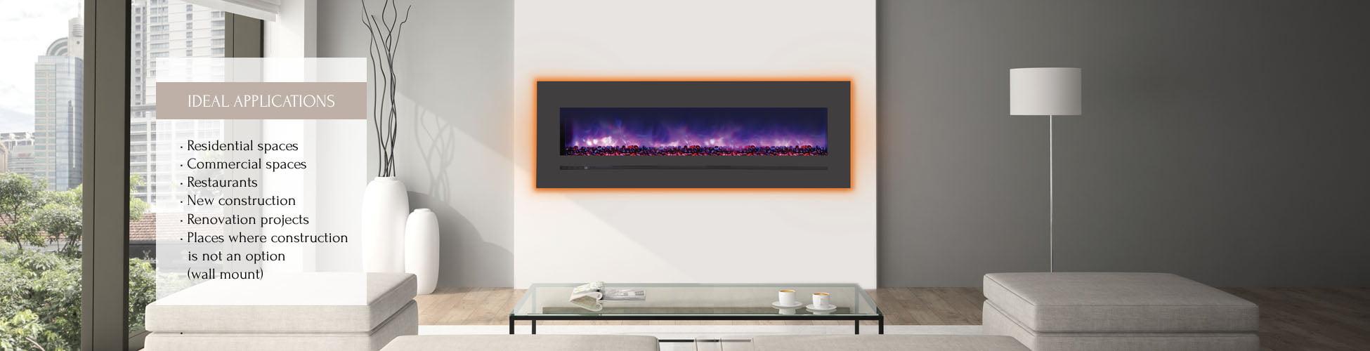 WM-FML-60-6623-STL electric fireplace
