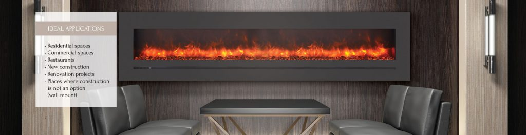 Wall Mount Flush Mount Amantii Electric Fireplaces