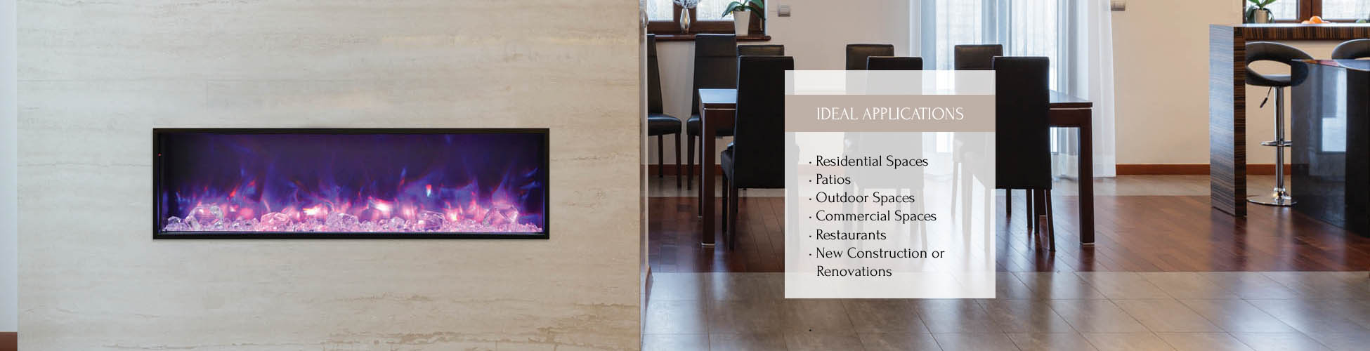 BI-50-SLIM electric fireplace by Amantii
