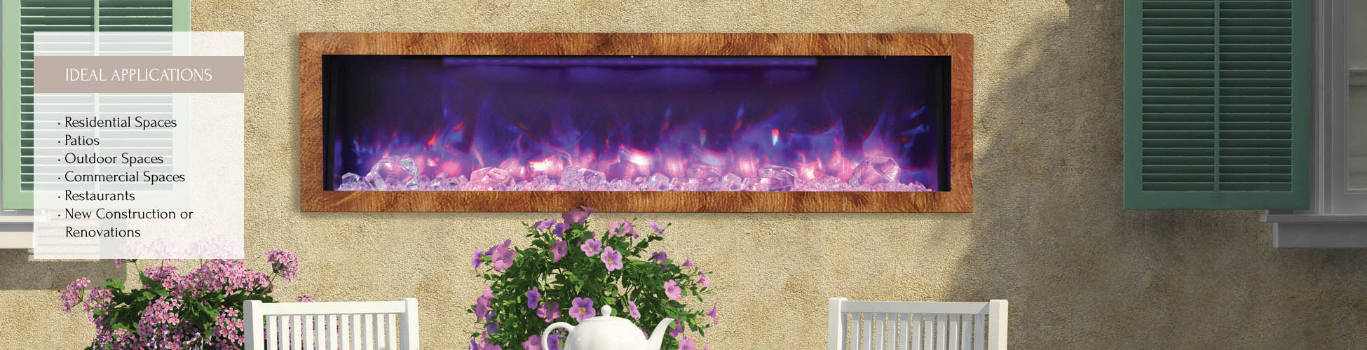 Outdoor elecltric fireplace