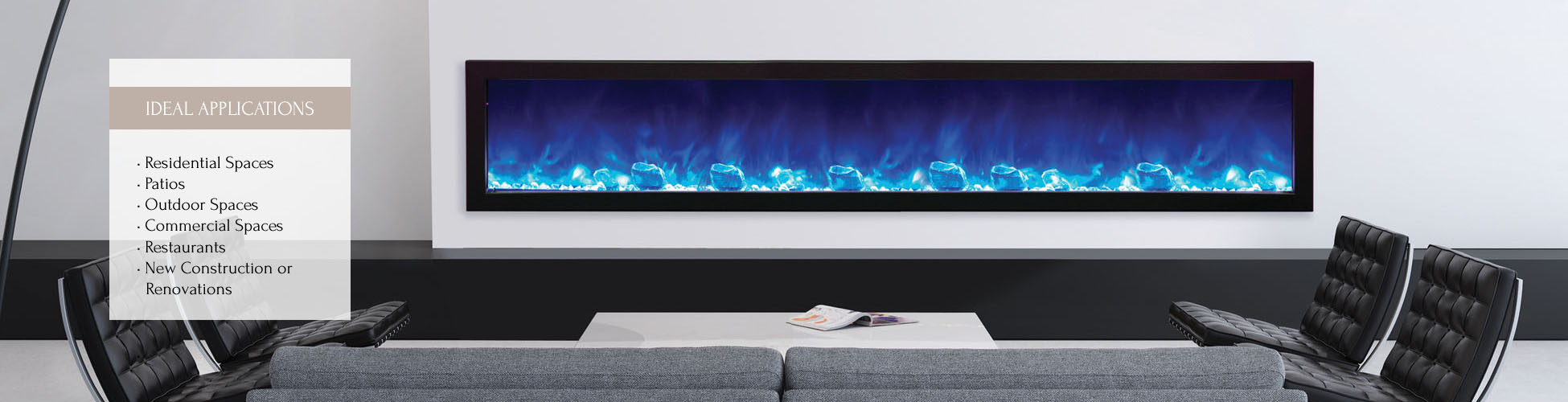BI-88-SLIM electric fireplace by Amantii