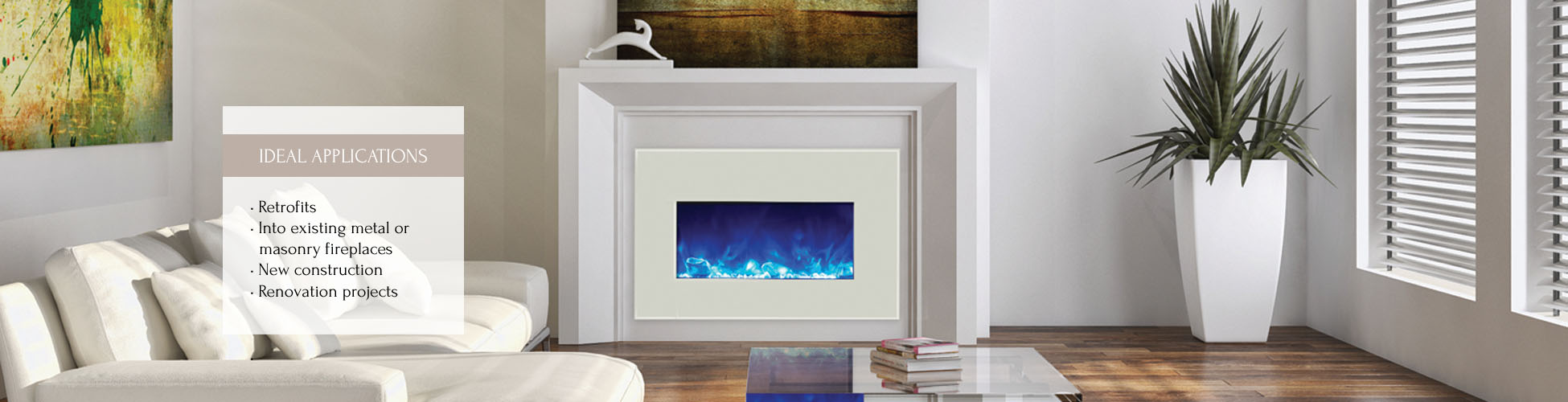 "Electric insert 30""wide by Amantii"