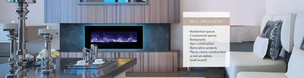 Wall Mount / Flush Mount electric fireplace