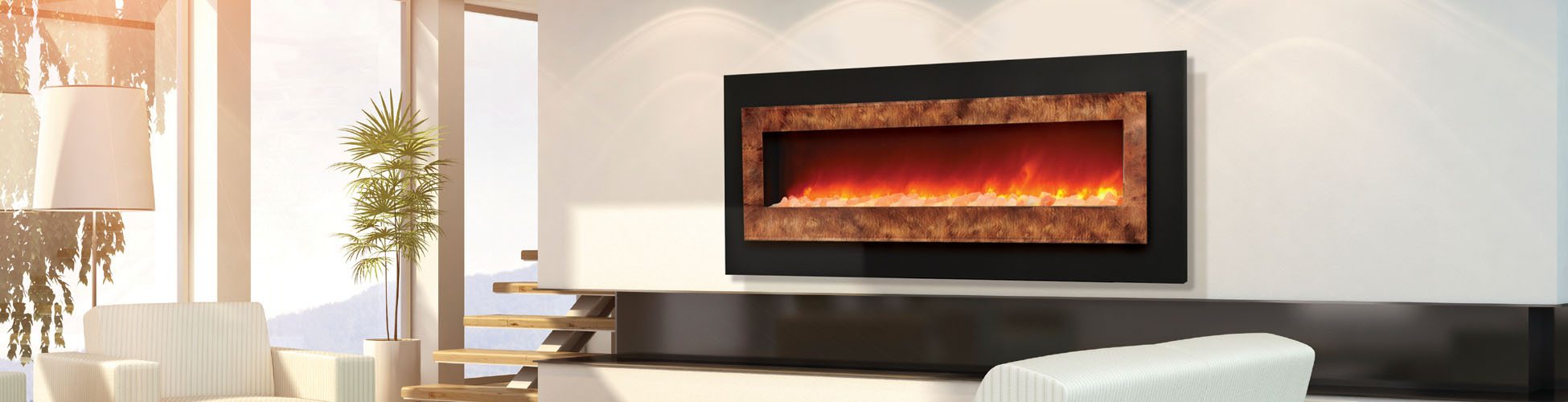 WM FML 85 Linear Electric Fireplace Amantii Electric