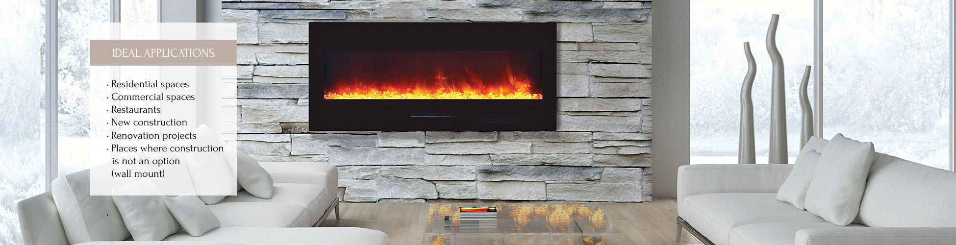 WM-FM-50-BG electric fireplace
