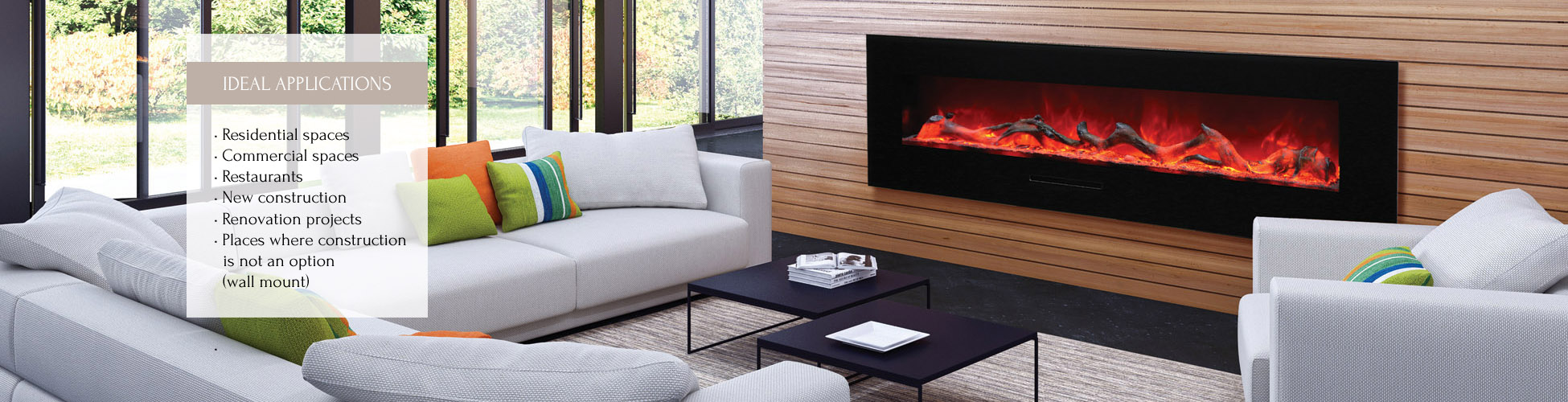 WM-FM-72-8123-BG linear electric fireplace