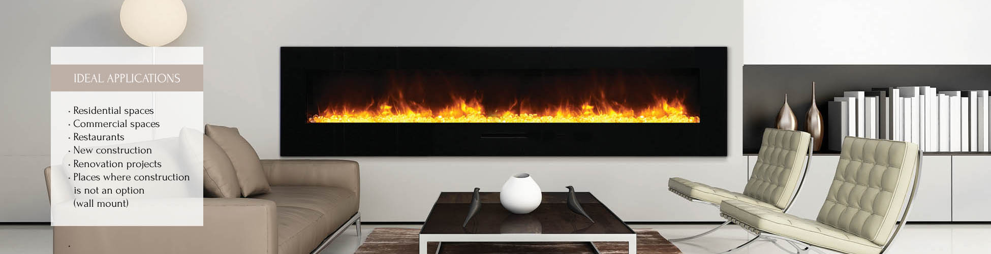 WM-FM-88-100 23-BG electlric fireplace