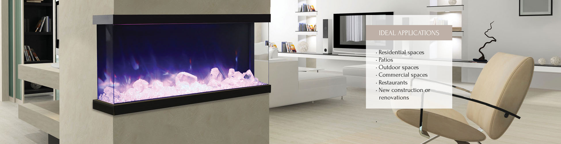 Amantii TRuView electric fireplace