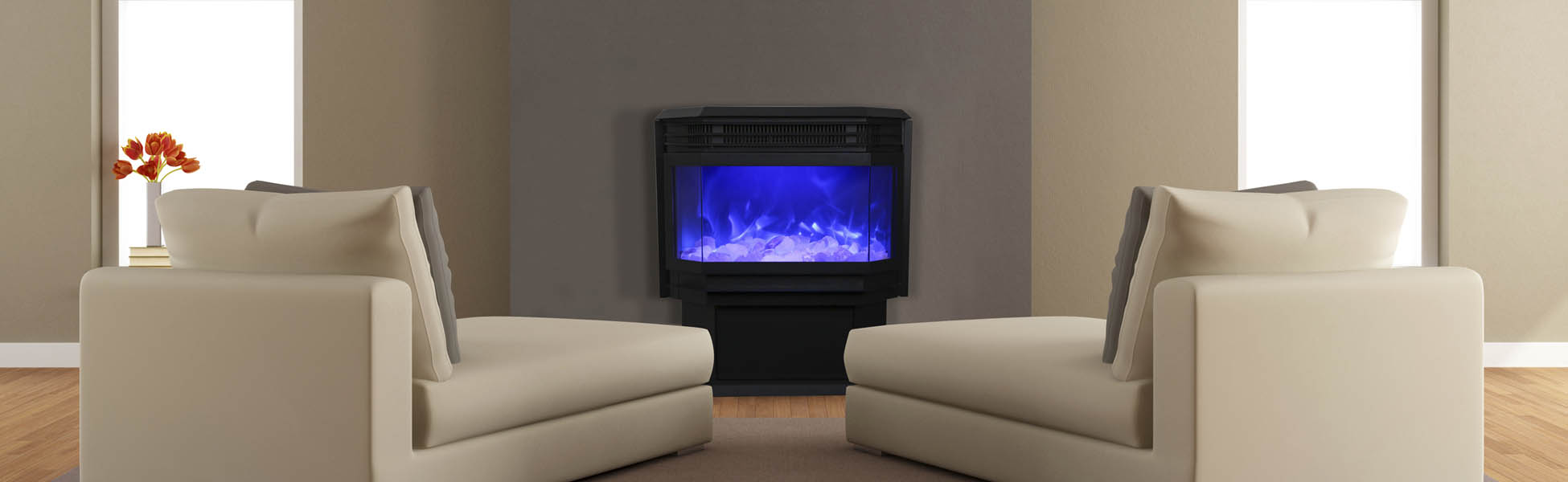 Free Stand electric fireplace by Sierra Flame