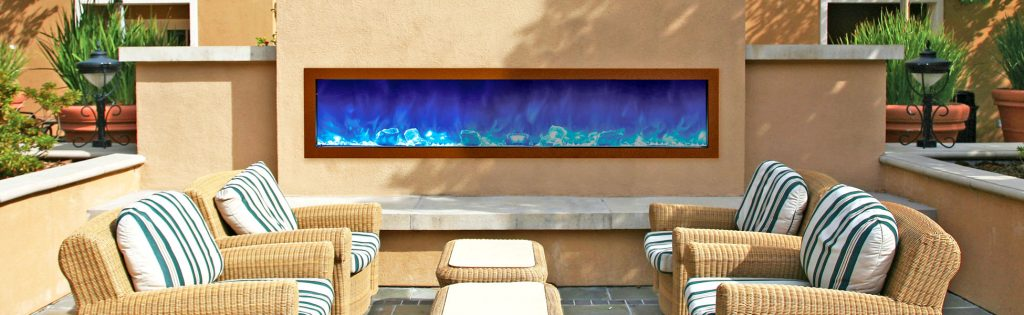 Panorama outdoor electric fireplace