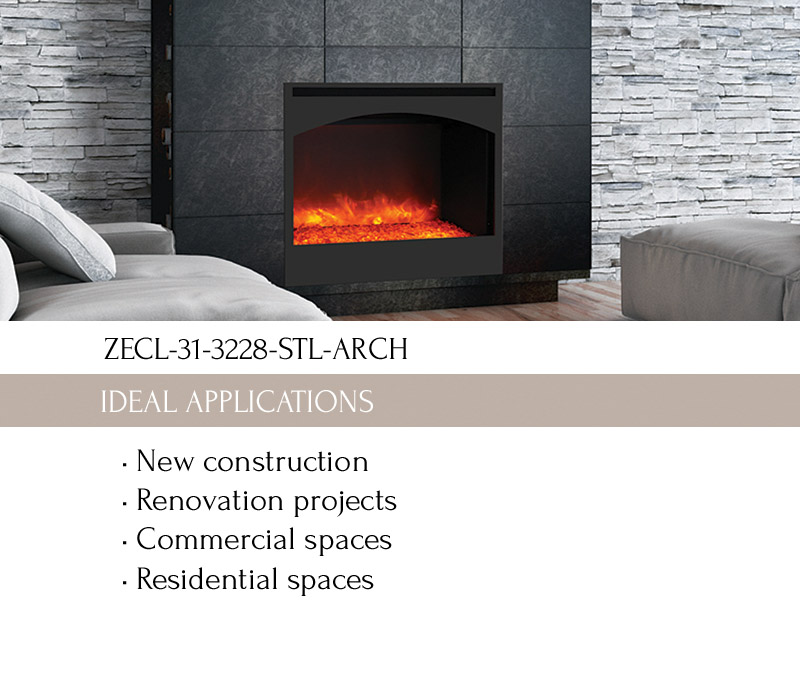 zero clearance fireplace amantii electric fireplaces - Electric Fireplaces Clearance
