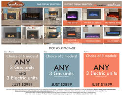Amantii Sierra Flame showroom packages