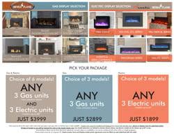 Amantii Sierra Flame showroom packages