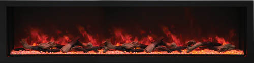 Amantii wide and tall electric fireplace