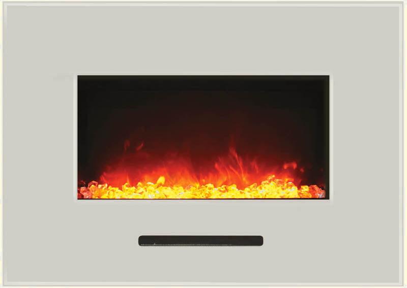 fireplace white surround