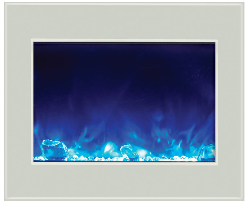 white glass surround for electric fireplace