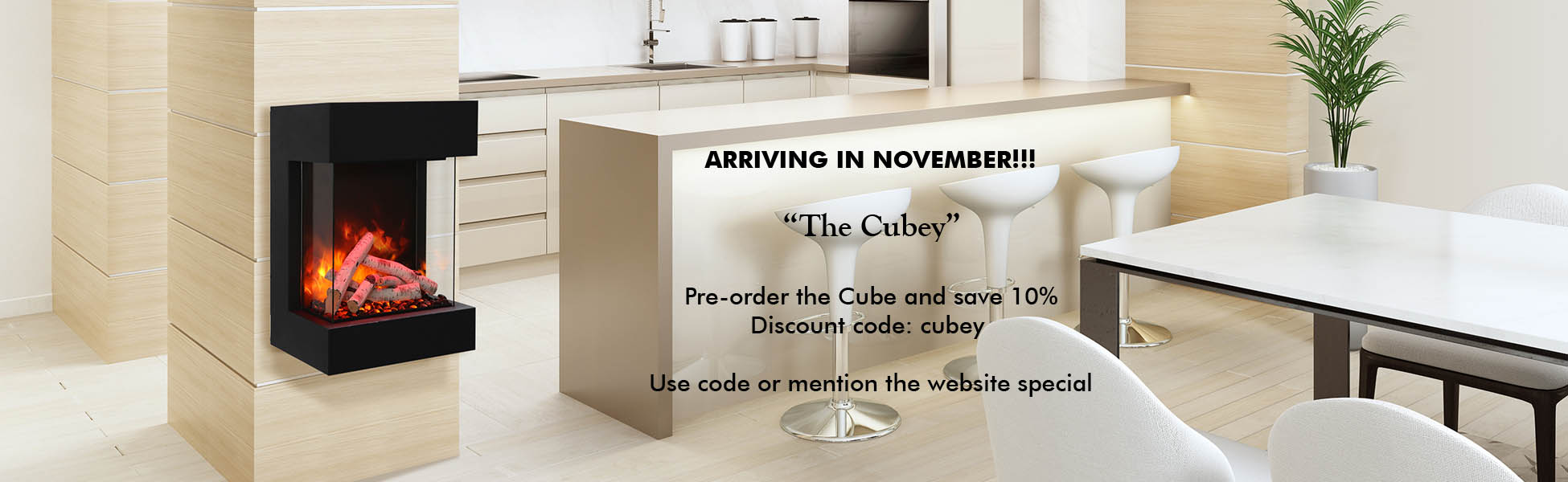 The cube electric fireplace