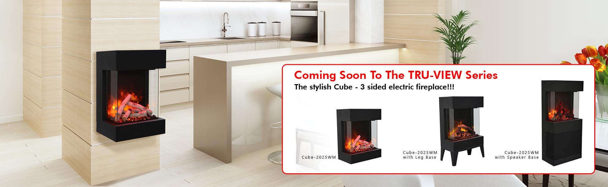 Amantii electric fireplace The Cube