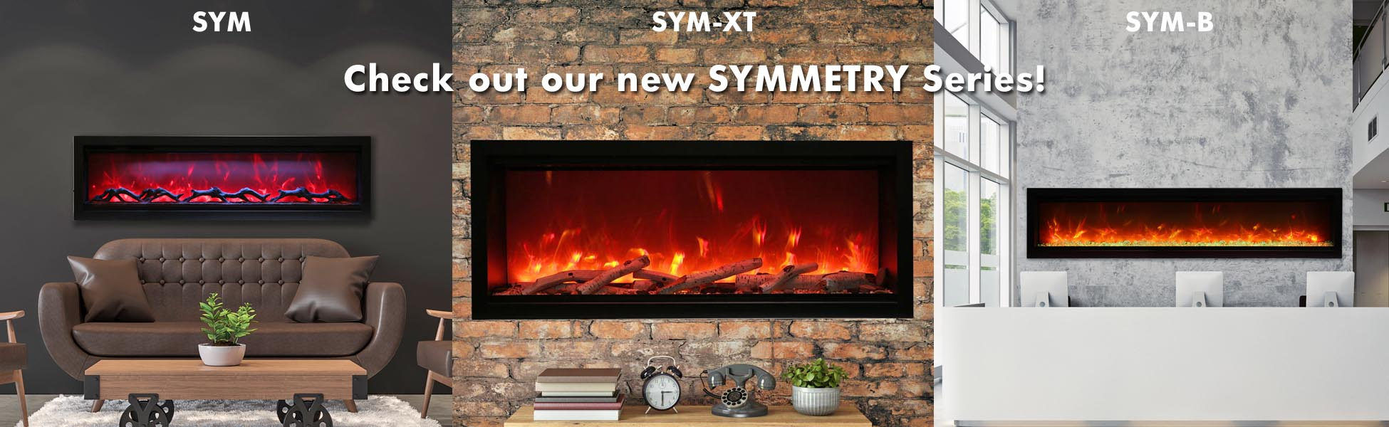 Symmetry electric fireplaces
