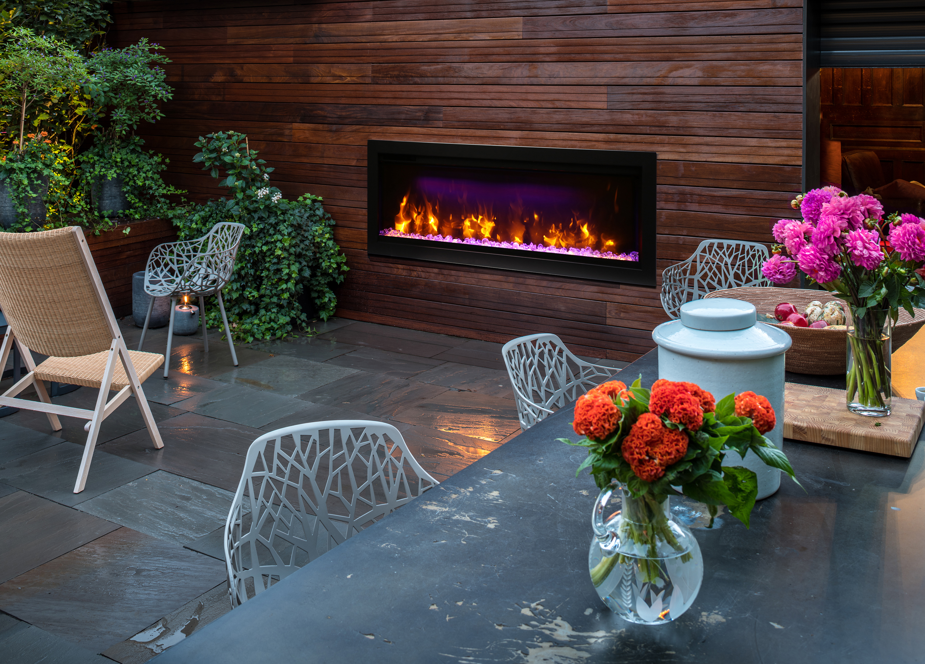SYM-42 outdoor electric fireplace