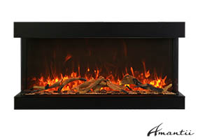 extra tall Amantii electric fireplace