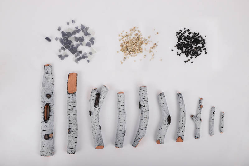 10 piece birch log set and media kit