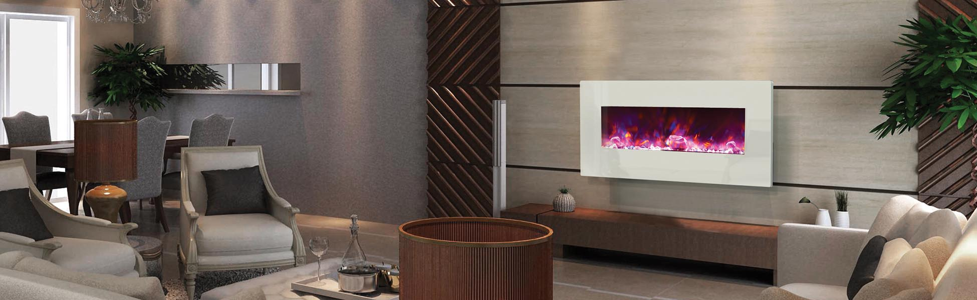 electric fireplace - wall mount