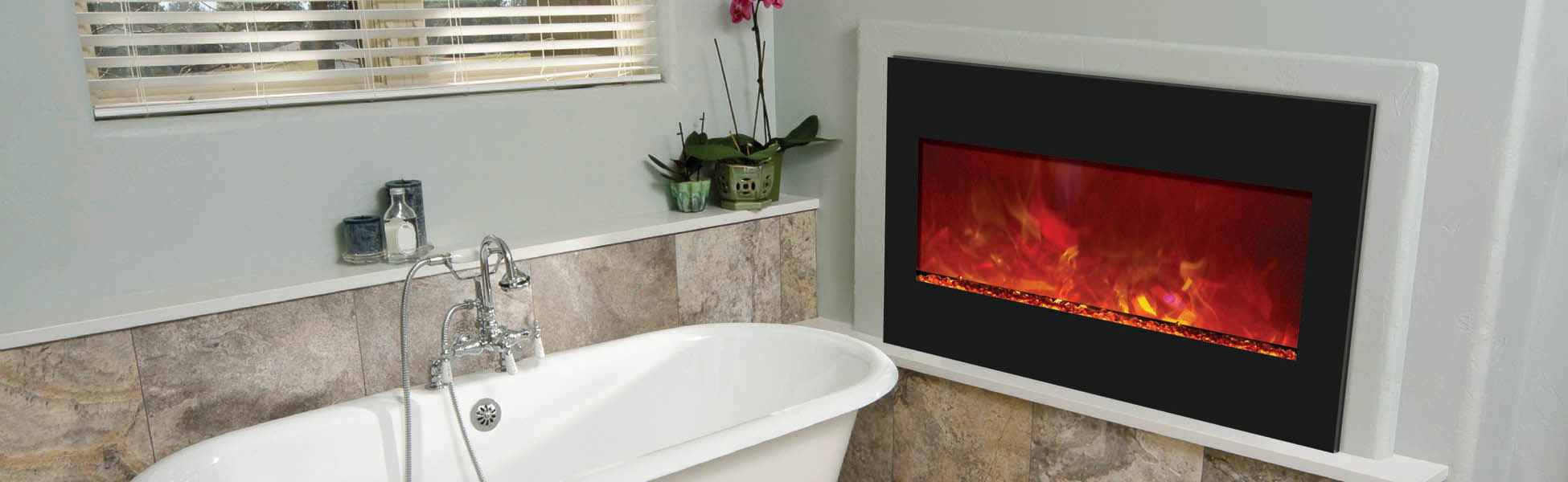 electric fireplace zero clearance