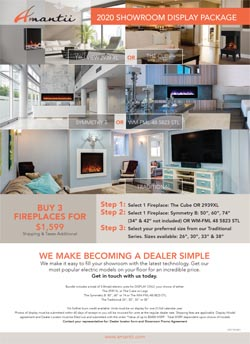 electric fireplace dealer package