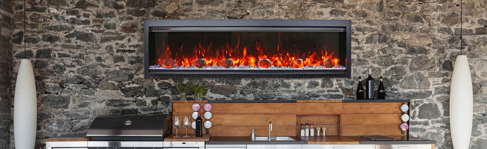 SYM Bespoke electric fireplace