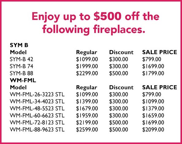 electric fireplace sale